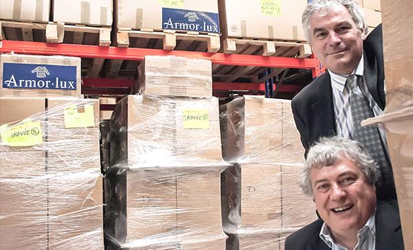 Michel Gueguen, directeur & Jean Guy Le Floch, président d'Armor-lux